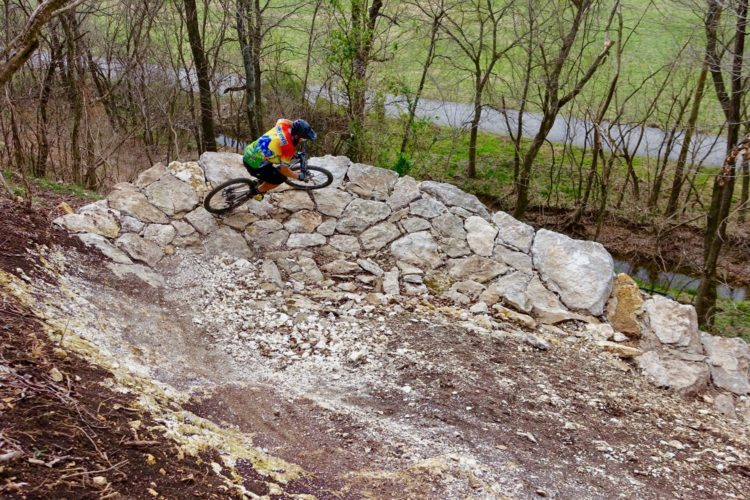 Rock Berm at Coller MTB park