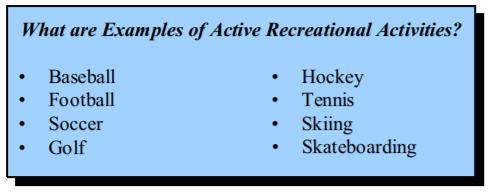 recreational activities definition