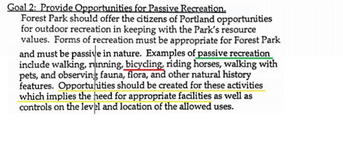 Forest Park Management Plan, page 21